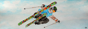 Picture for medal displey - PMAK00022 Snow freestyle (Skier)