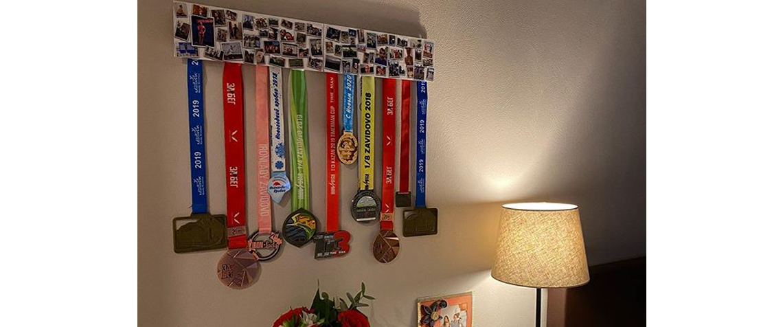 Client medal holder in the interior